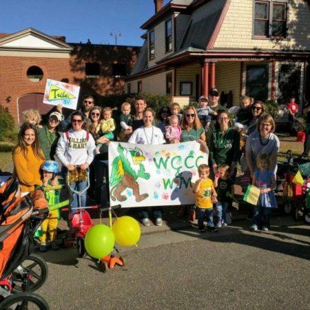 wccc families at homecoming parade